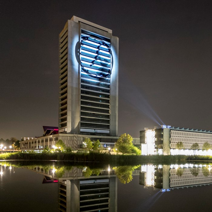 Light projection on the provincial house Noord-Brabant | Brabant Brand Box