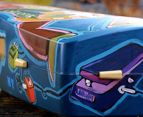 This coffin from Onora was painted by artist Michel Tijsterman - Brabant Brand Box