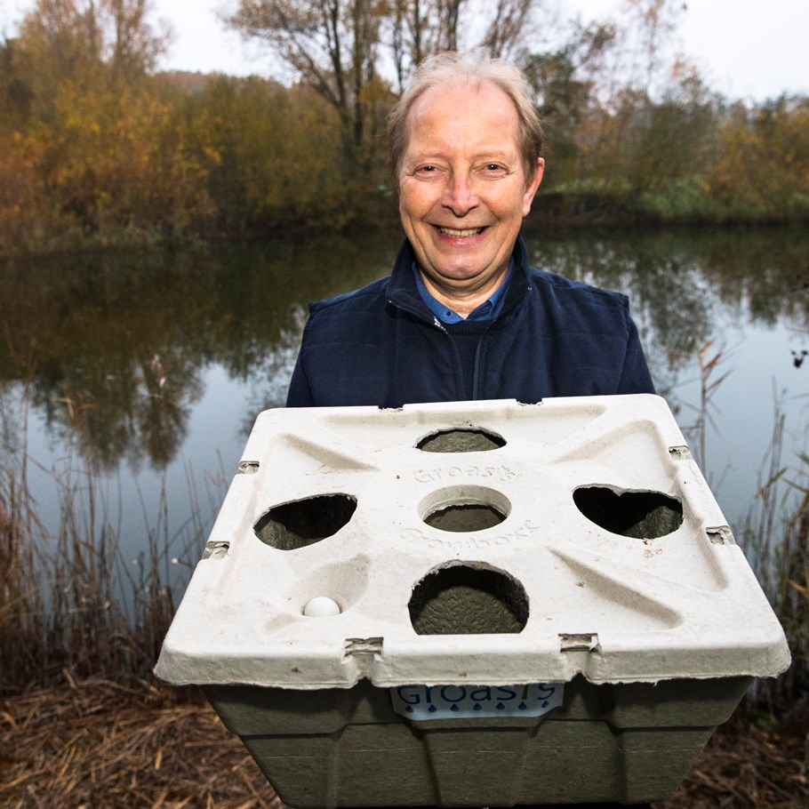 Pieter Hoff and his water transport system Growboxx, Brabant Brand Box